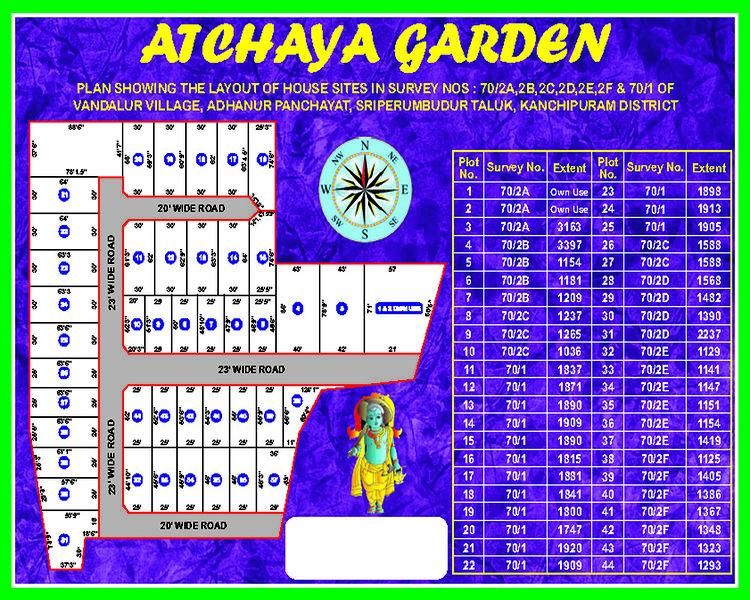 Vamanan Estates Atchaya Garden - Master Plan