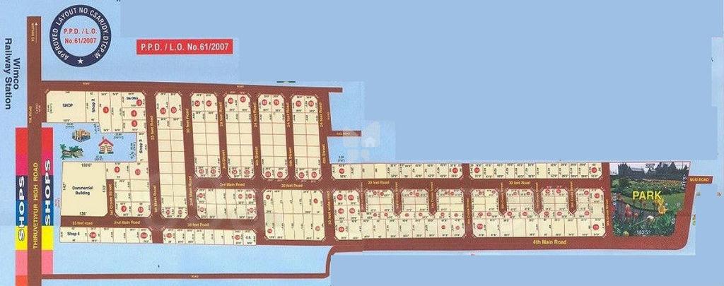 Annai Sri Rangam Newtown - Master Plan