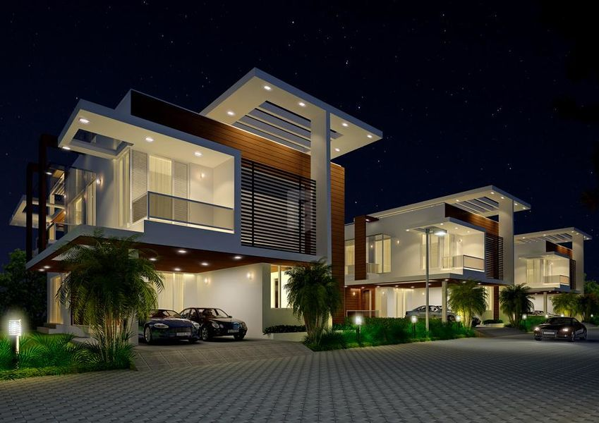 Myans luxury villas in kanathur chennai price floor for Top design hotels india