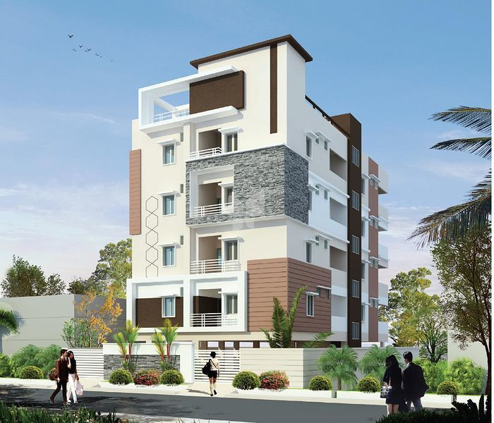5 Floor Apartment Elevation : Trendz rivera in madhapur hyderabad roofandfloor