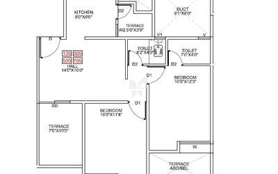 pragathi-royal-serene-in-balewadi-floor-plan-2d-1btw