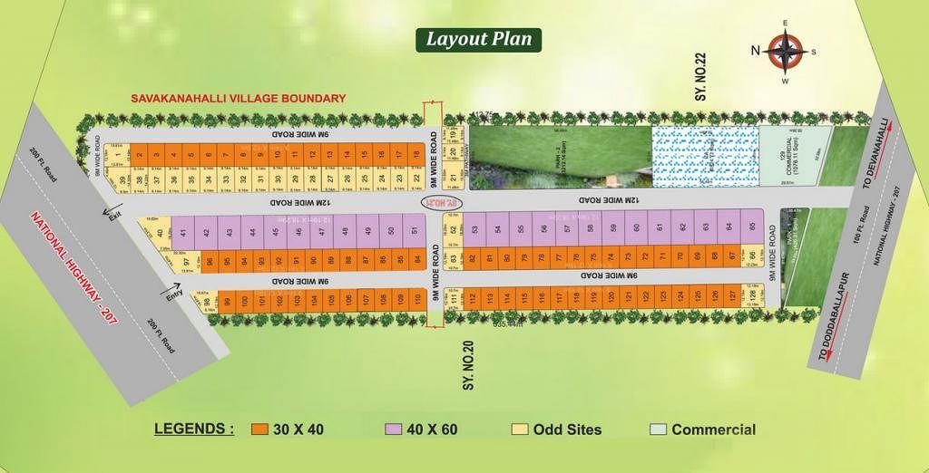 Bharathi Enclave - Master Plan