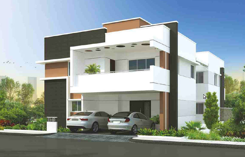 Front Elevation Designs Of Houses In Hyderabad : Gowra palm breeze in manikonda hyderabad price floor