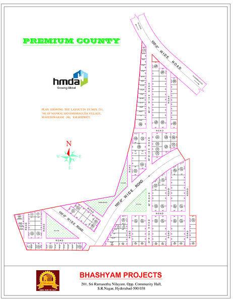 Bhashyam Premium County - Master Plan