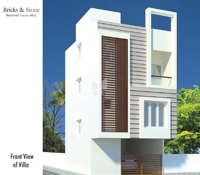 One Floor Villa Elevation : Future value tambaram villa in chennai price