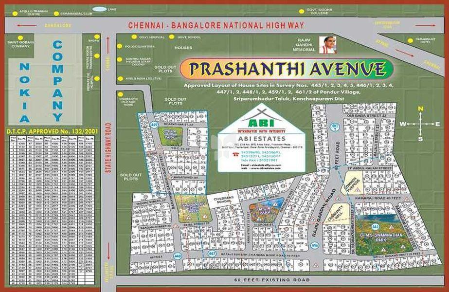 ABI Prashanthi  Avenue - Master Plan