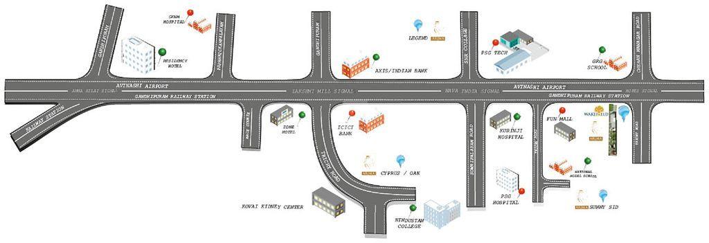 Arima Wakefield - Location Maps